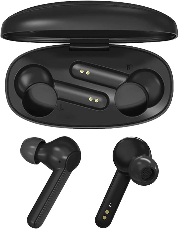 LAMA Bluetooth Kopfh/örer 5.0 Wireless Ohrh/örer Touch Earbuds In Ear Sport Headset mit Ladek/ästchen Mikrofon f/ür Windows iOS Android iPhone Samsung Huawei Moto HTC Sony usw Schwarz
