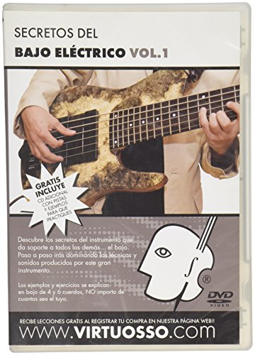 Virtuosso Electric Bass Method Vol.1 (Curso De Bajo Eléctrico Vol.1) SPANISH ONLY by Virtuosso