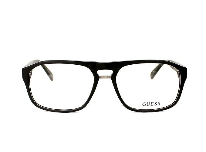 90127c9a27 Guess eyeglasses GU 1842 BLK Acetate plastic Matt Black  Amazon.co.uk   Clothing