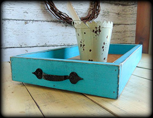 Rustic Wooden Ottoman Tray Farmhouse Style Decor (Table Breakfast Ideas Setting)