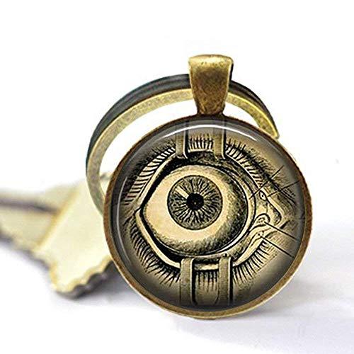 - Handmade Steampunk Keychain Human Anatomy Eyeball Keychain Evil Eye Science Medical Art Keychain