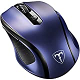 VicTsing MM057 2.4G Wireless Portable Mobile Mouse Optical Mice with USB Receiver, 5 Adjustable DPI Levels, 6 Buttons for Notebook, PC, Laptop, Computer, MacBook - Sapphire Blue