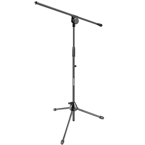 Neewer Tripod Boom Floor Microphone Stand - Aluminium Alloy, Adjustable  Height Maximum 37 4 inches/95 centimeters, Foldable, Tilting Rotating for