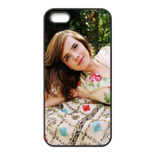 Emma Watson21 coque iPhone 4 4S cellulaire cas coque de téléphone cas téléphone cellulaire noir couvercle EEEXLKNBC24911
