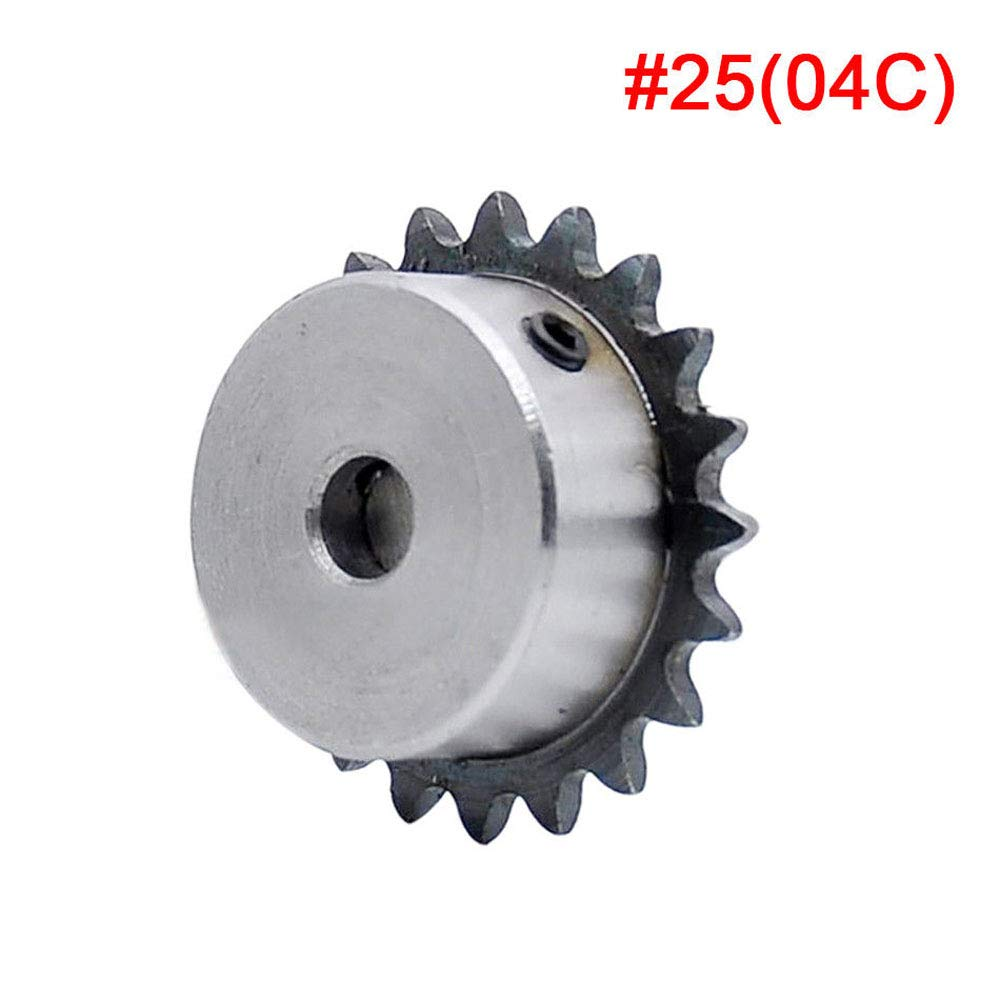 #25 Chain Drive Sprocket 1//4 15T Bore 6//6.35//8//10//12mm For 04C #25 Roller Chain Bore:8mm