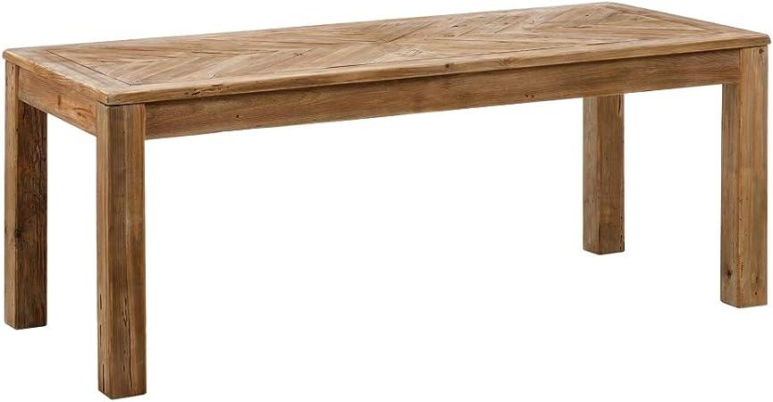 Mesa de Comedor para 8 Personas, reciclada de Madera de Pino, rústica Natural, de 200x90x76 cm - LOLAhome: Amazon.es: Hogar