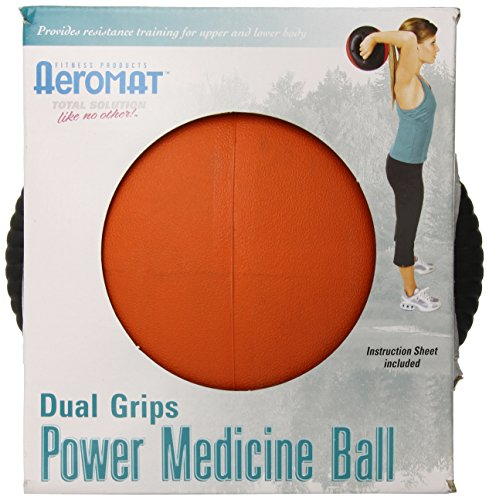 Aeromat Dual Grip Power Medicine Ball, 9cm/8-Pound, Black/Orange