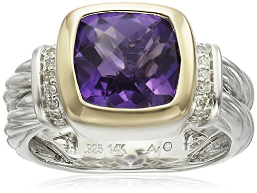 sg-sterling-silver-and-14k-yellow-gold-cushion-amethyst-bezel-with-diamond-accent-ring-size-7