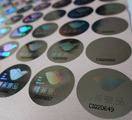 custom order hologram labe sticker with serial number 10000pcs