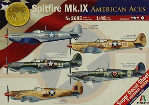 - Italeri 1:48 Spitfire Mk.IX American Aces - Plastic Aircraft Model Kit #2685