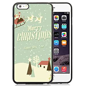 New Fashionable Designed For iPhone 6 Plus 5.5 Inch Phone Case With Merry Christmas and Happy New Year Illustration Phone Case Cover