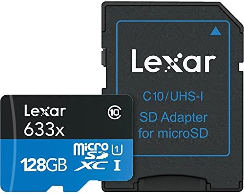 Lexar LSDMI128BBEU633A Micro SDXC Class 10 UHS-I U1 MicroSDXC ...