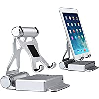 2in1 iPhone Ipad Holder Stand +10400mAh Power Bank USB Charger External Battery Pack Battery Charger Desktop Charger Station for iPhone Samsung iPad Pro iPad Mini4 3 2 Air Tablet Gopro (silver)