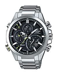 Casio Men's 'Edifice Solar Connected' Quartz Stainless Steel Casual Watch, Color:Silver-Toned (Model: EQB-501D-1ACF)