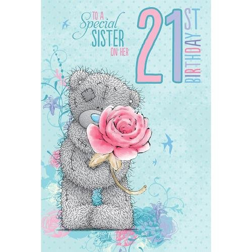 Me to You Sister 21st Birthday Card Amazoncouk Toys Games – Sister 21st Birthday Card