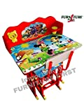 FF American Mickey Mouse Team Graphics and Fully Laminated Kids Study Table & Chair Set for Kids Age between 3-10 Years, imported by FURNITURE FIRST
