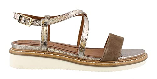 Tamaris 1-28206-28 Womens Platinum Leather Sandals 68f18b5918