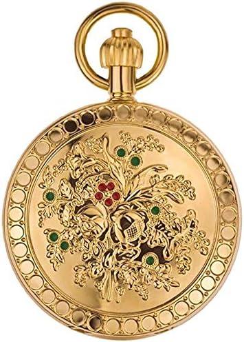 山椿さん自動機械式時計クラシックレトロ柄フリップナースハング表、色名:4 (Color : 1)