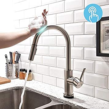 Forious Touch Kitchen Faucets With Pull Down Sprayer Kitchen Sink