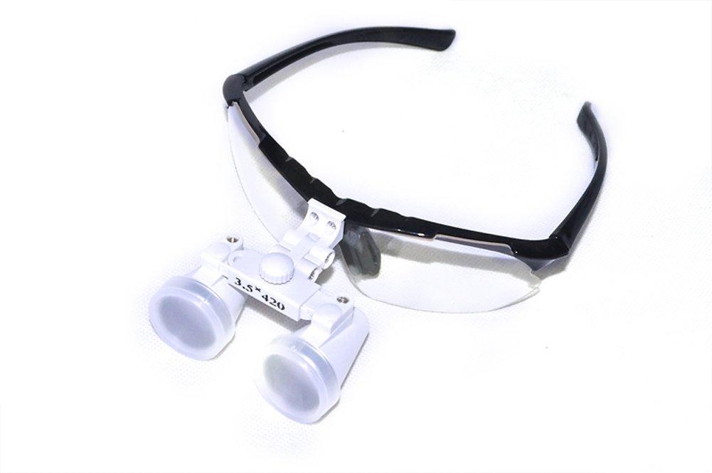 e6e6c2efcc6916 Funwill Loupe Binoculaire Medicale 3.5X 420mm pour Chirurgie Dentaire Verre  Optique Loupe (Noir)  Amazon.fr  Hygiène et Soins du corps
