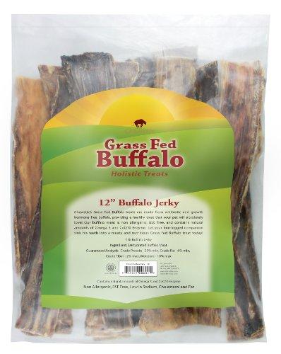 UPC 855208006015, Chewstix 12-Inch Buffalo Jerky Flat Dog Treat, Large, 1-Pound Bag