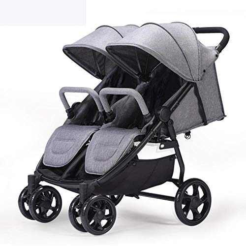 (Yunfeng Baby Pushchair Carriage,Twin Baby Stroller Lightweight high-View Baby car can sit Down Folding Trolley)
