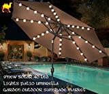 STRONG CAMEL 9′ NEW 40 LED LIGHTS PATIO UMBRELLA WITH CRANK TILT GARDEN OUTDOOR -BROWN Review