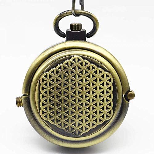 YXZQ懐中時計、ヴィンテージマットブロンズ回転シェルハンドハンドメカニカルメンズレディースギフト