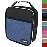 OPUX Premium Thermal Insulated Mini Lunch Bag | School Lunch Box For Boys, Girls, Kids, Adults | Soft Leakproof Liner | Compact Lunch Pail for Office (Heather Navy)