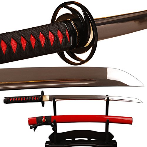 Handmade Samurai Sword Japanese Wakizashi Full Tang Sharp Edge Knives Can Cut Bamboo