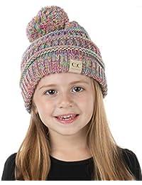 EK30-816YJKIDSPOM-LXL-n11 Kids POM Beanie Hat - Rainbow #11 (L/XL)