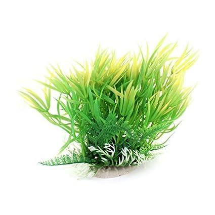 eDealMax Peces de plástico decoración de la planta de agua artificiales 6,8 pulgadas Verde