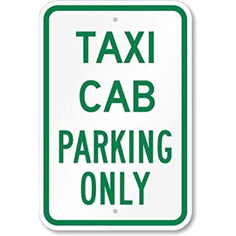 Amazon com: Diuangfoong Taxi Cab Parking Only Sign 12