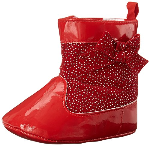 Ashley Toddler Infant Red Bootie Laura Patent LA28023 dAqfnSdxO