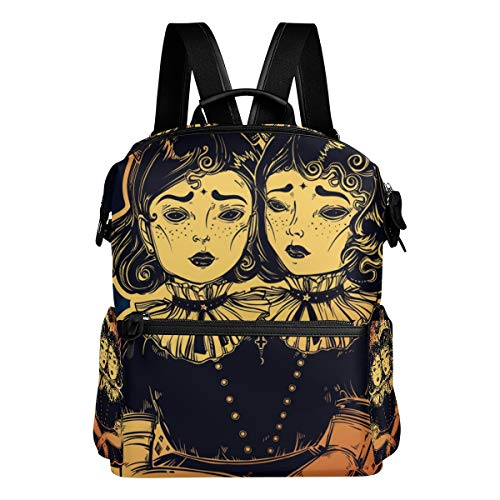 Dragon Sword Gothic Witchcraft Siamese Twins School Backpack College Bags Daypack Bookbags for Women Men Boys Girls