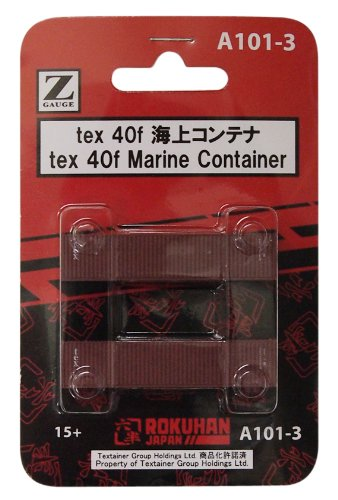 2 pieces Z gauge A101-3 tex 40f sea container (japan import) Rokuhan