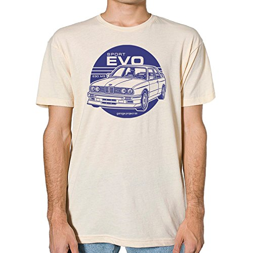 GarageProject101 BMW E30 M3 Sport Evolution T-Shirt M (Evolution Cream)