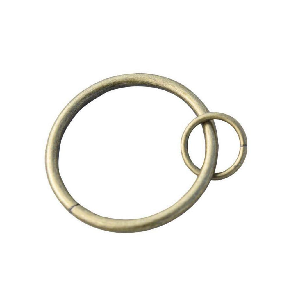Coideal Curtain Ring Loop, 10 Pack Heavy-duty Metal Drapery Eyelet Round Curtain Rings Hook Pins, Windows, Cafes, Home Kitchen Useage, Fit Up To 1 1/4-inch Rod (Antique Brass) BP-CurtainRings-Bronze