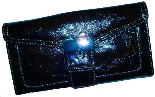 Nine West Womens Hipster Checkbook Wallet (Black)