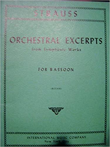 Download free ebook for ipod Strauss: Orchestra Excerpts from Symphonic Works for Bassoon PDF ePub by Richard Strauss