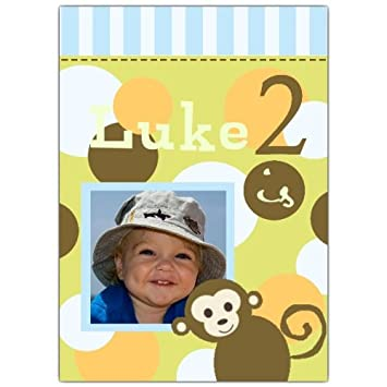 Image Unavailable Not Available For Color Monkey Dots Photo 2Nd Birthday Invitations