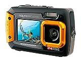 Aquapix W1400 Active Unterwasser-Digitalkamera (14 Megapixel, 6,8 cm (2,7 Zoll) Dual-Display, 4-fach Zoom, Wasserdicht bis 3m) schwarz/orange