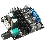 Digital Amplifier Board, DROK HiFi Dual Channel Stereo Audio Amplifier DC10-25V Digital 2.0 Power Amp Board 100W Output with Volume Adjustment Knob
