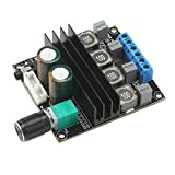 Digital Amplifier Board, DROK HiFi Dual Channel Stereo Audio Amplifier DC10-25V Digital 2.0 Power Amp Board 100W Output with Volume Adjustment Knob