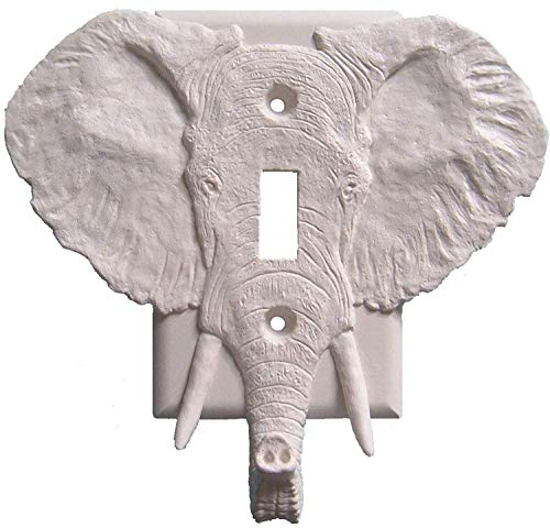 Elephant Wall PLate Single Toggle Light Switch Cover Jewelry & Key Holder ()