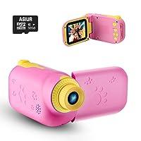 ASIUR Kids Video Camera for Girls Gift, 1080P FHD Digital Kids Camera Camcorder Children Camera DV with 32GB SD Card & 2.4