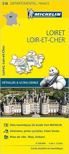 Ebooks pour mobiles à télécharger Carte Loiret, Loir-et-Cher Michelin PDF