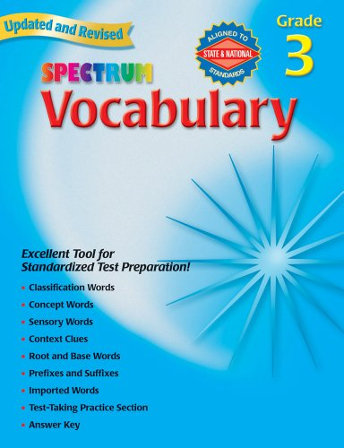 Halloween Spelling Words Grade 3 (Spectrum Vocabulary, Grade 3)