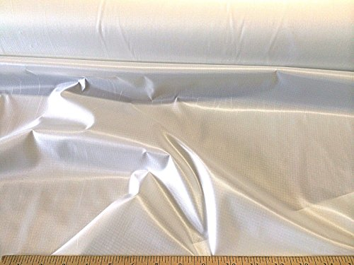 10 Yard Lot Ripstop Rip Stop Fabric Nylon Water Resistant White RS01