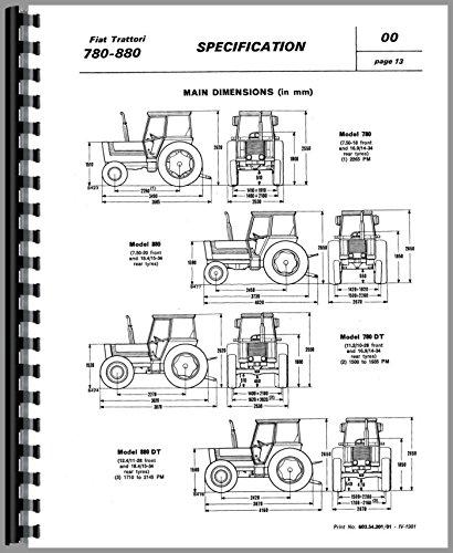 amazon com fiat 780 tractor service manual 0739718042384 fiat books rh amazon com Hesston Fiat Tractor Fiat Tractor Parts